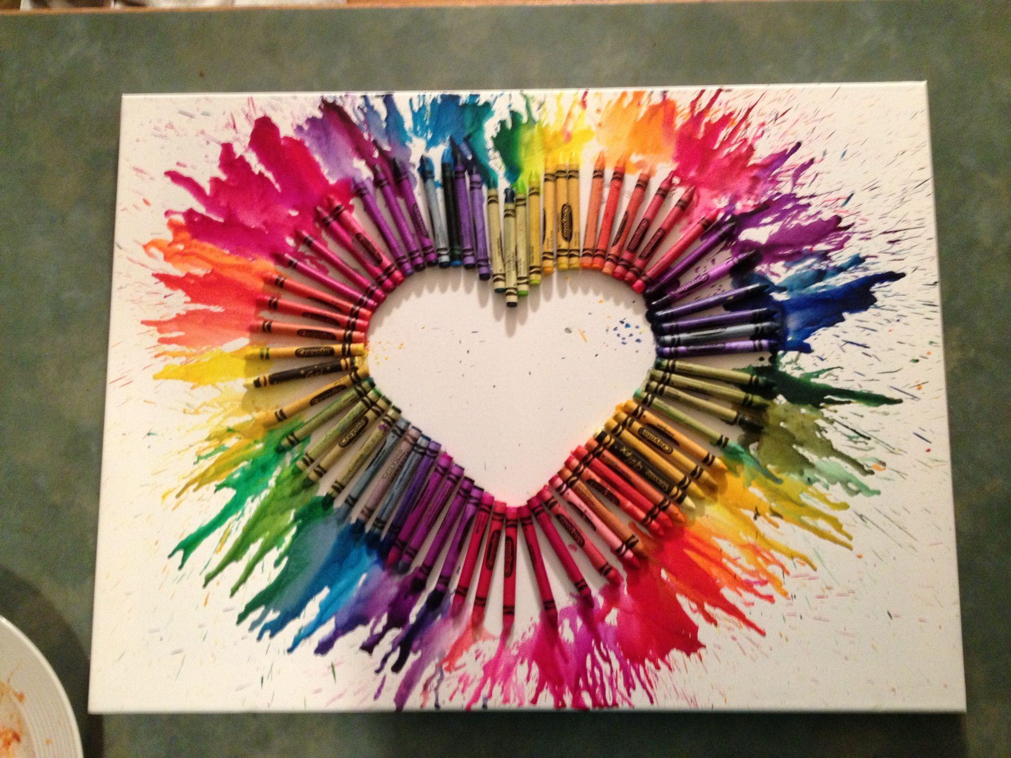 Crayon Art Arts And Crafts Project