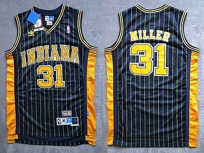 de1d36532ce ... low price nba reggie miller 31 indiana pacers retro black swingman  jersey size 16cdc 6ba90