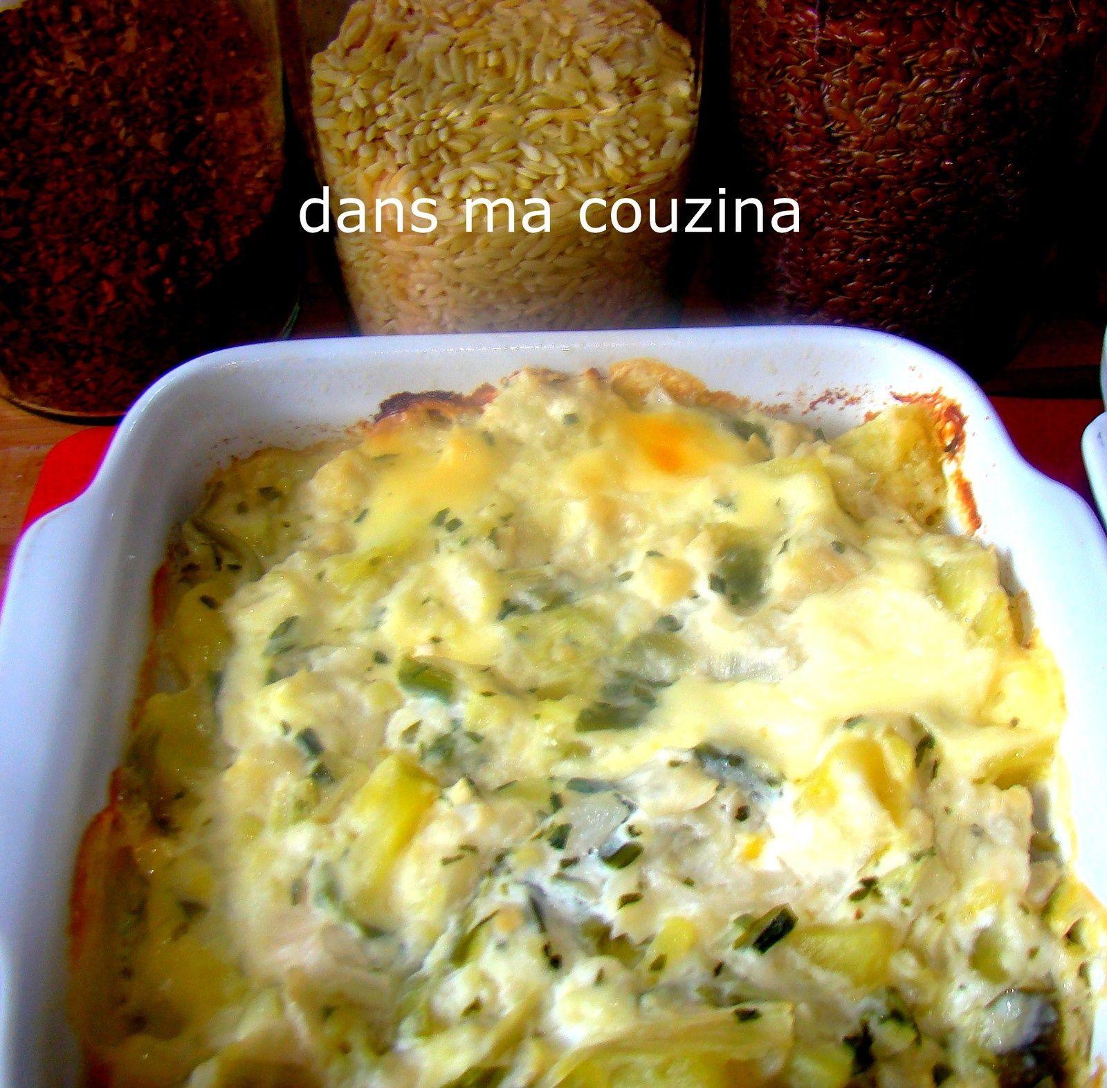 gratin de légumes (chou-fleur, poireaux, pomme de terre ...