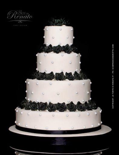 Wedding Cake Inspiration - Black and White Cake