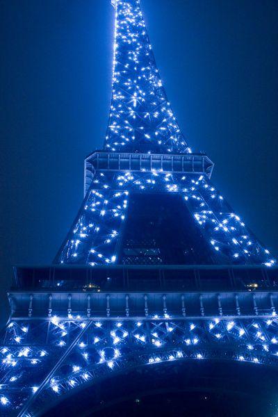 Eiffel In Blue Printedart Com Blue Aesthetic Pastel Eiffel Tower Blue Aesthetic Blue eiffel tower wallpaper hd