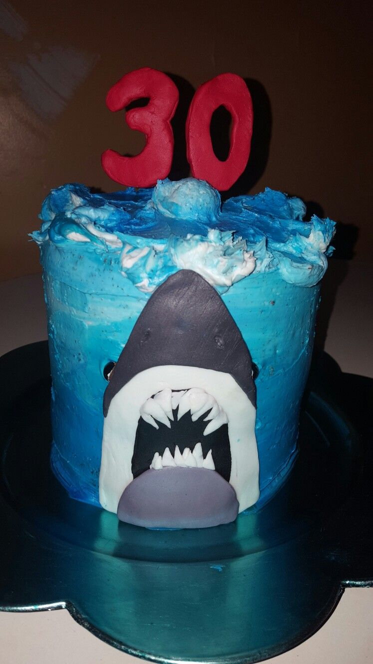 Jaws Birthday Cake Dirty30 Jawscake Sharkcake Jaws Thisis30