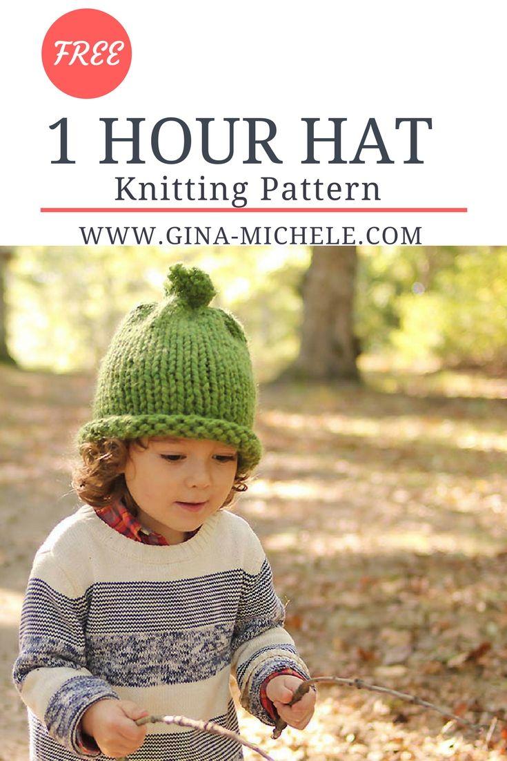 1 Hour Baby & Kids Hat Knitting Pattern | Knitting patterns ...