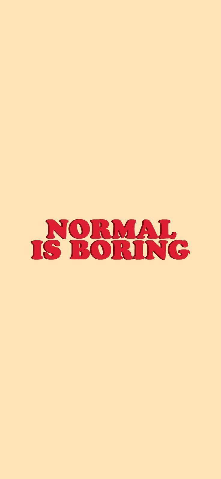 'Normale ist langweilig' Sticker von Isabelle-Anne