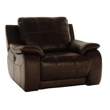 This leather recliner features a premium Leggett and Platt electric