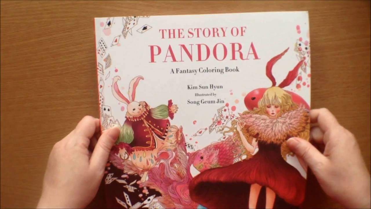 The Story of Pandora by Kim Sun Hyun / Song Geum Jin Colouring Book ...