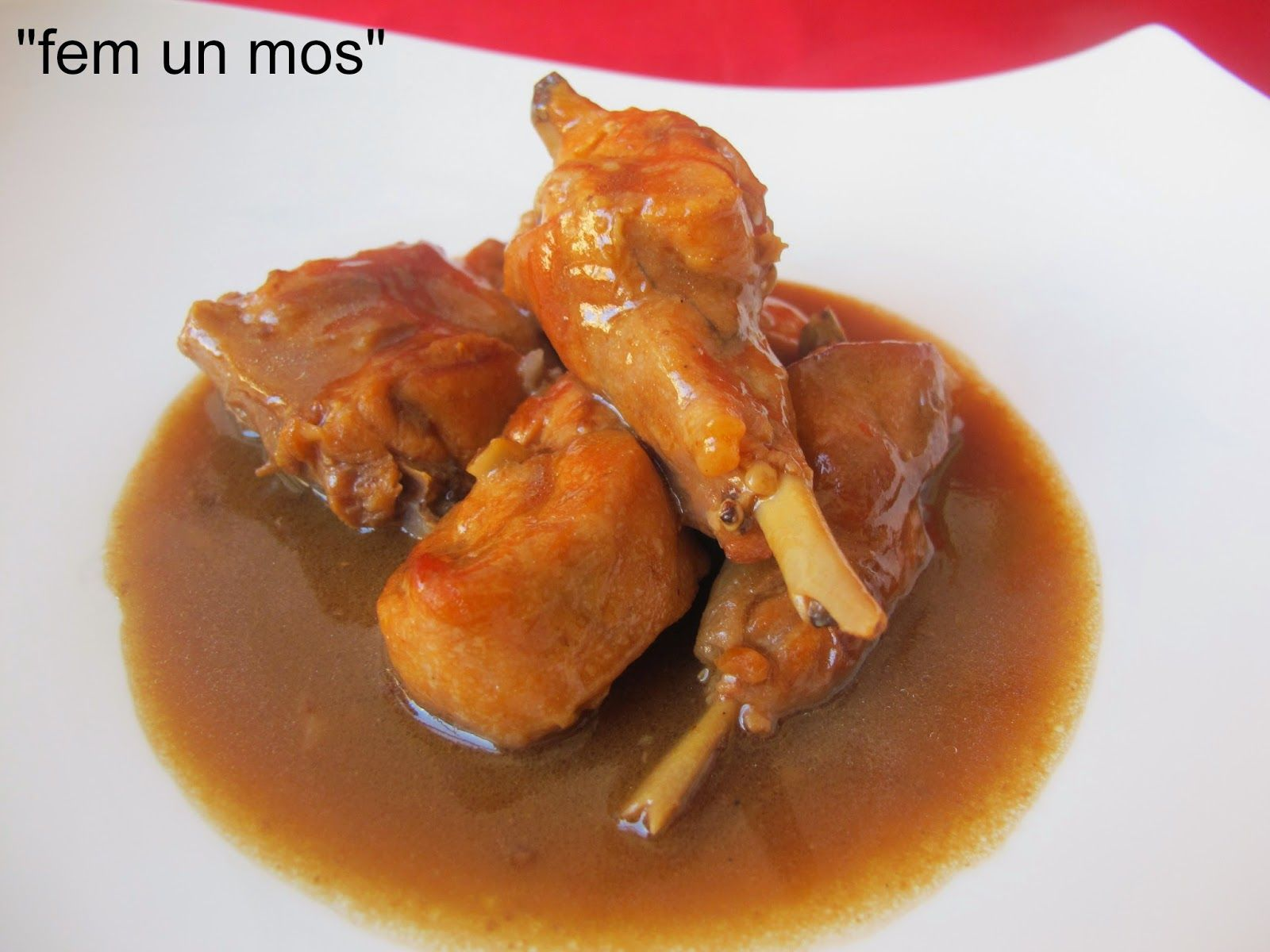 RABBIT IN CHOCOLATE SAUCE - CONILL A LA SALSA DE XOCOLATA - Fem un mos