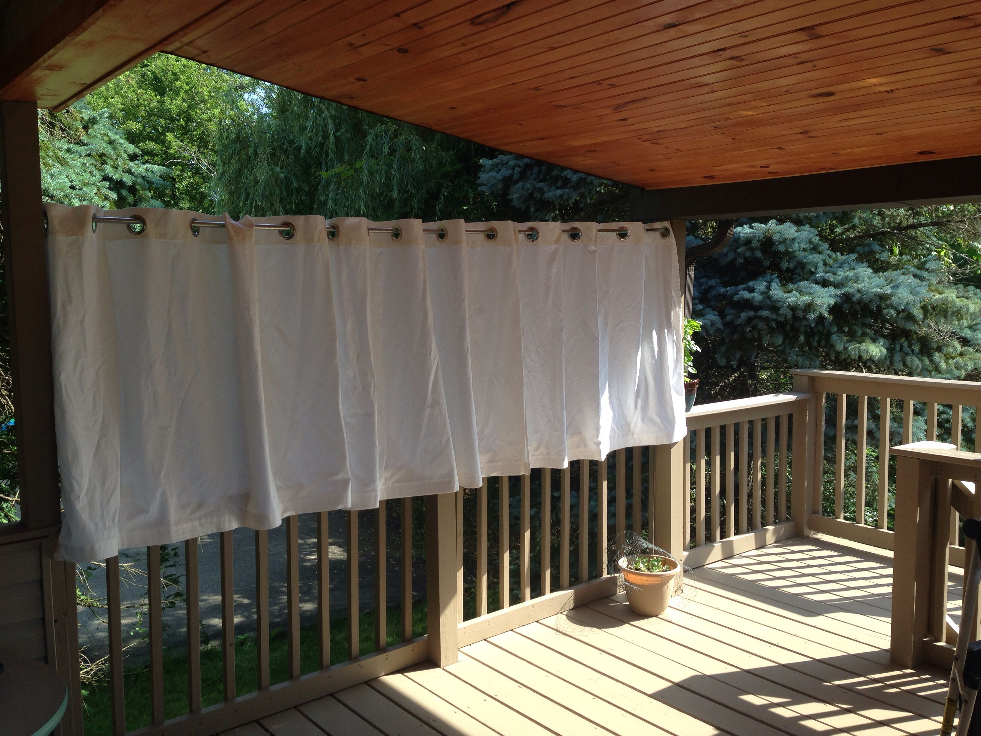 Outdoor deck privacy curtain grommet curtains from ikea for Outdoor curtains for patio ikea