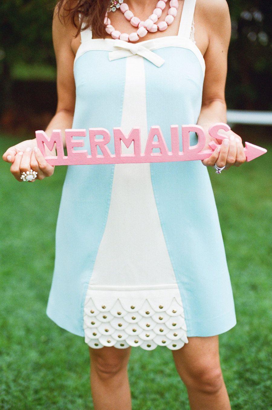 Mermaid Sign - Coastal Decor - Pick Your Color