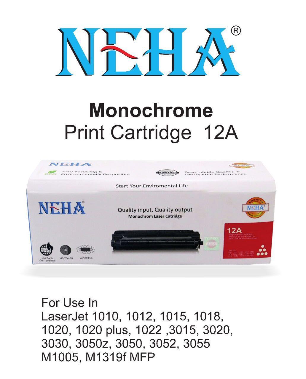 Neha Toner Cartridge 12a Laser Jet 101010121015101810203020 Compatible 1020 10101012101510181020