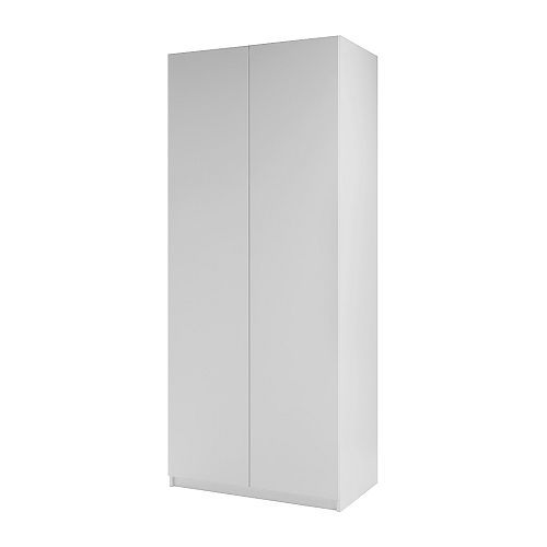 pax armoire 2 portes ballstad blanc blanc 100x60x236 cm charni res standard ikea. Black Bedroom Furniture Sets. Home Design Ideas
