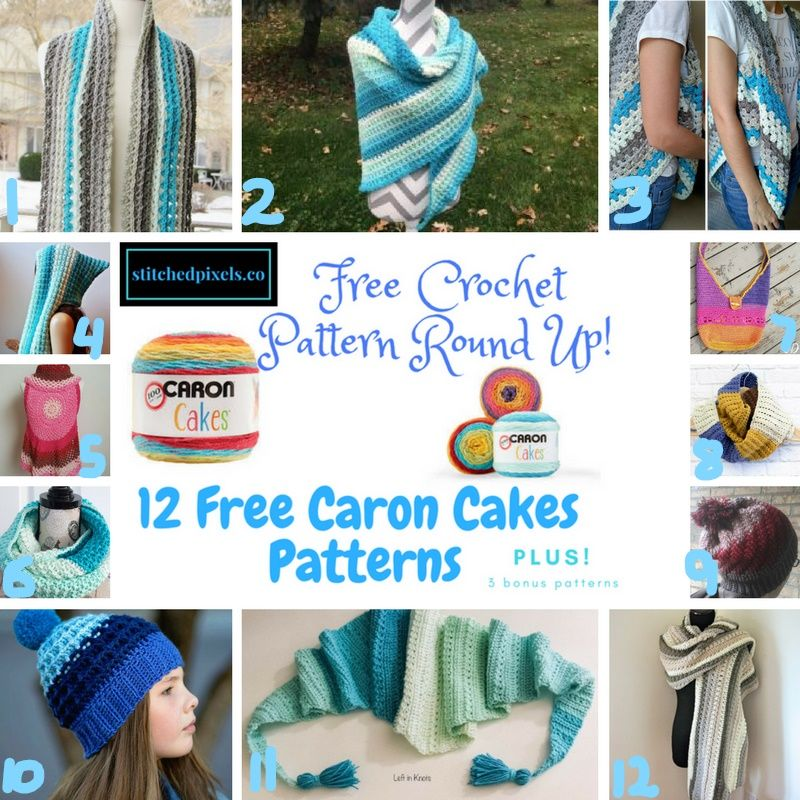 Caron Cakes Pattern Round Up – Stitched Pixels | DIY gifts | Pinterest