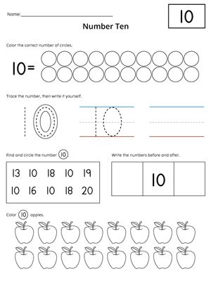 Numbers 1-20: Count and Write Activity Set | Numbers, Worksheets ...