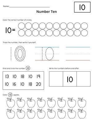 Numbers 1 20 Count And Write Activity Set Numbers Preschool Writing Numbers Number 10 Worksheet Preschool worksheets number 13