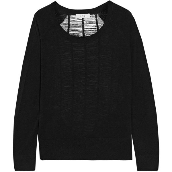 IRO - Amber Shredded Silk And Wool-blend Sweater (9,010 INR) ❤ liked