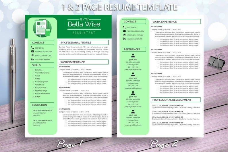 Accountant Resume Template For Word Executive Manager Finance