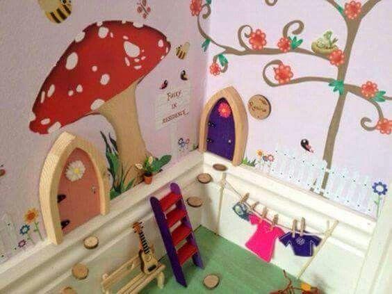 How Adorable For A Kids Room Fairy Room Fairy Door Accessories Fairy Bedroom