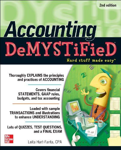 Accounting DeMYSTiFieD, 2nd Edition by Leita Hart   wwwamazon - sample cover sheet