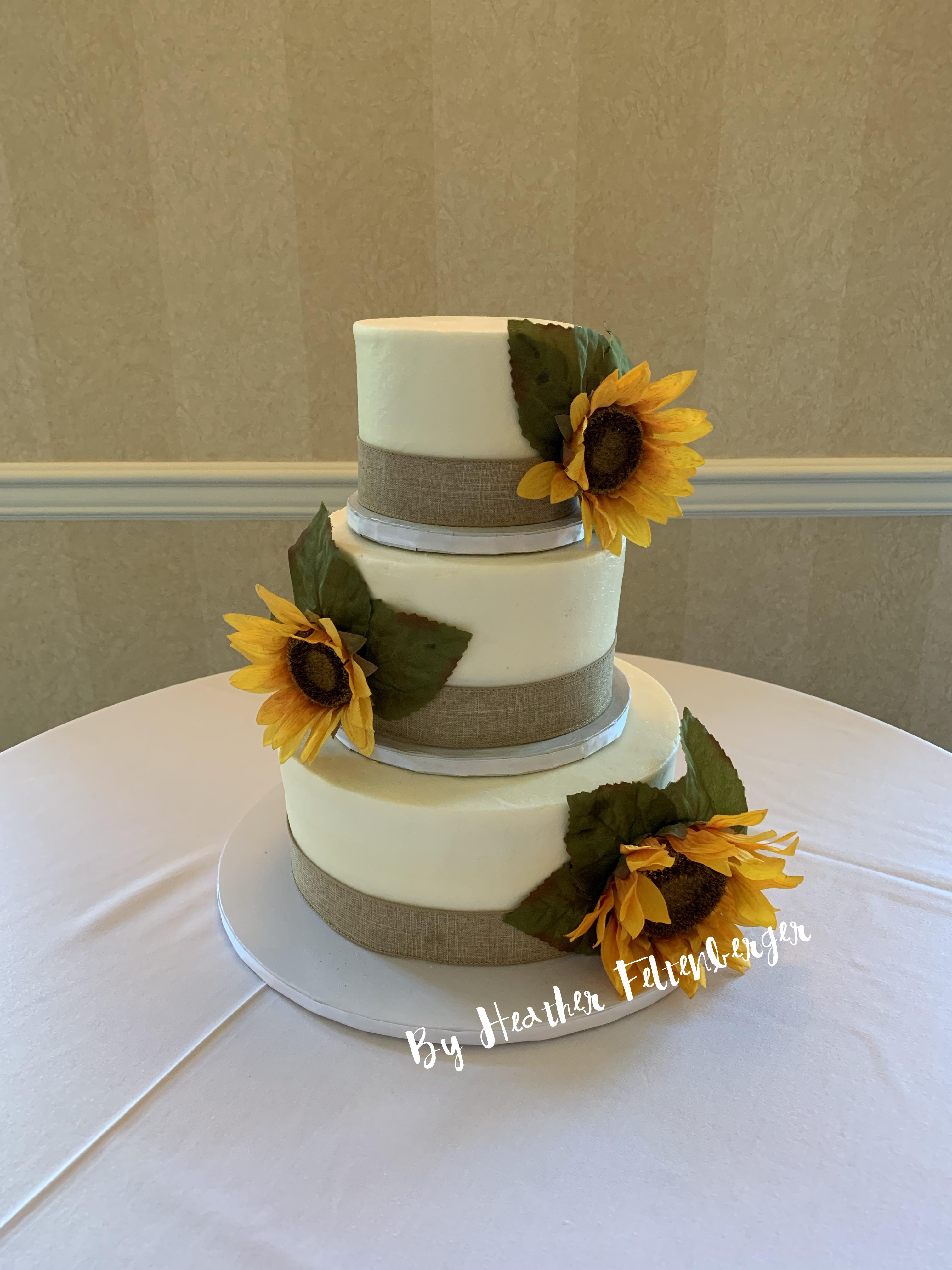 Sunflowers 3tier birthday cake in 2019 Cake, 3 tier