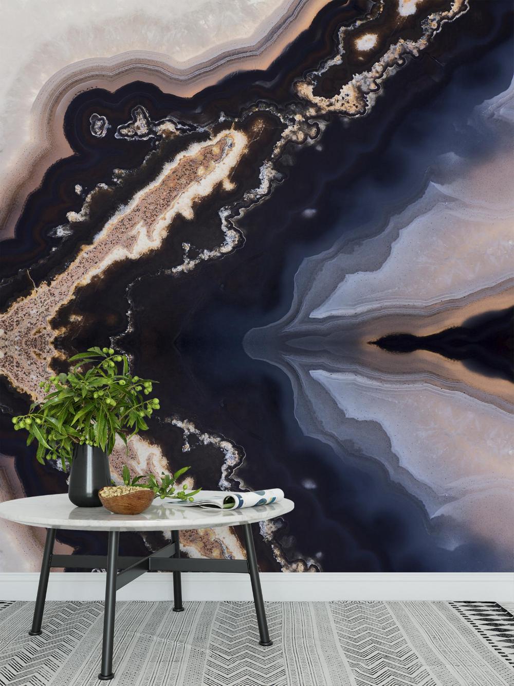 Peel And Stick Wallpaper Removable Wallpaper Blue Gold Etsy In 2020 Mural Wallpaper Peel And Stick Wallpaper Vinyl Wallpaper