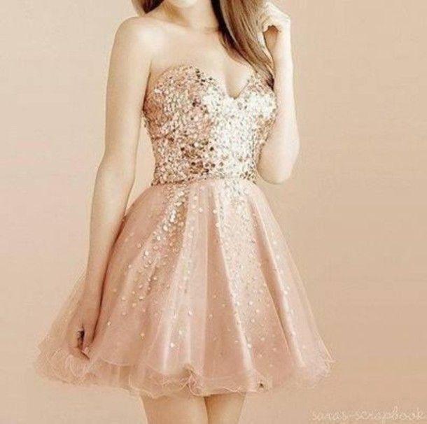 Dress | Glitter dress, Pink and Prom dresses