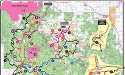 Image detail for Black Hills Trails  Click on Map to Enlarge