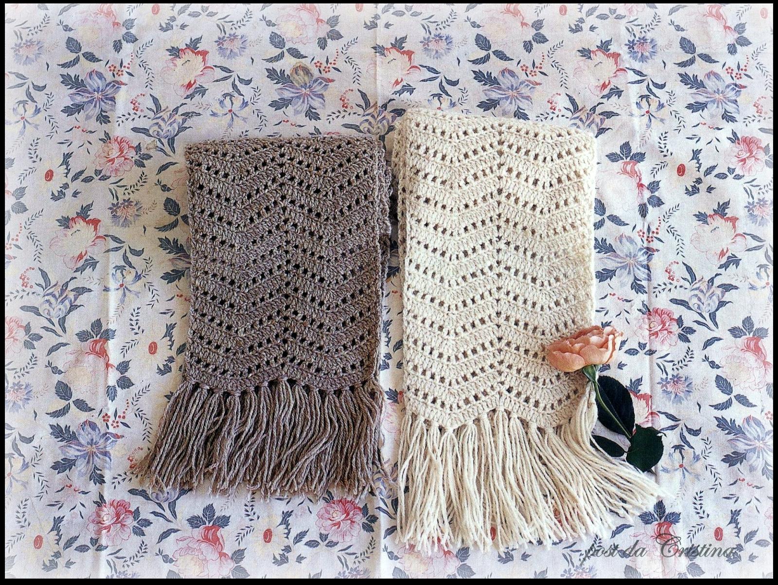 Bufanda / estola en punto zig-zag | Crochet y Dos agujas - Patrones ...