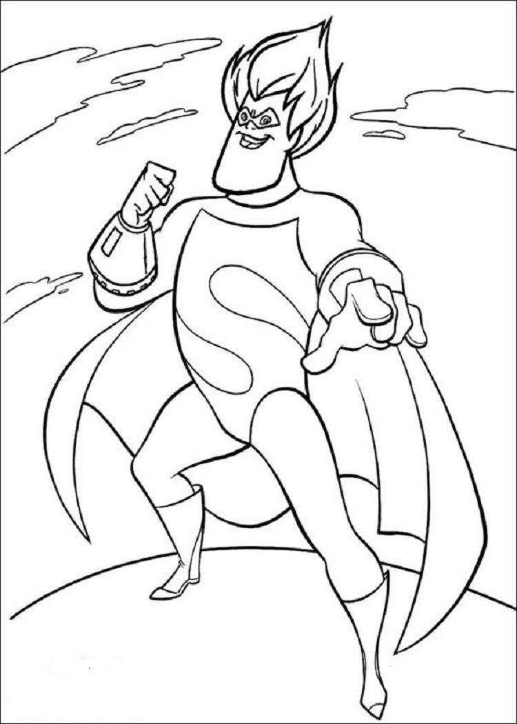 Incredibles Coloring Pages Syndrome The Incredibles Coloring Pages Disney Coloring Pages