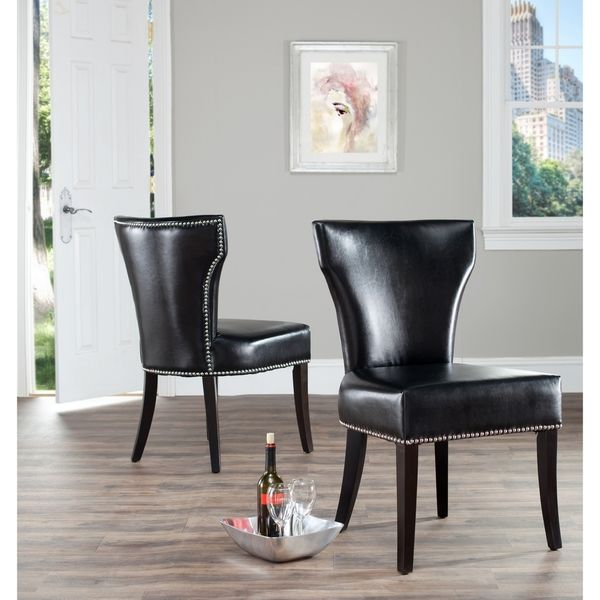 Leather Nailhead Dining Chairs