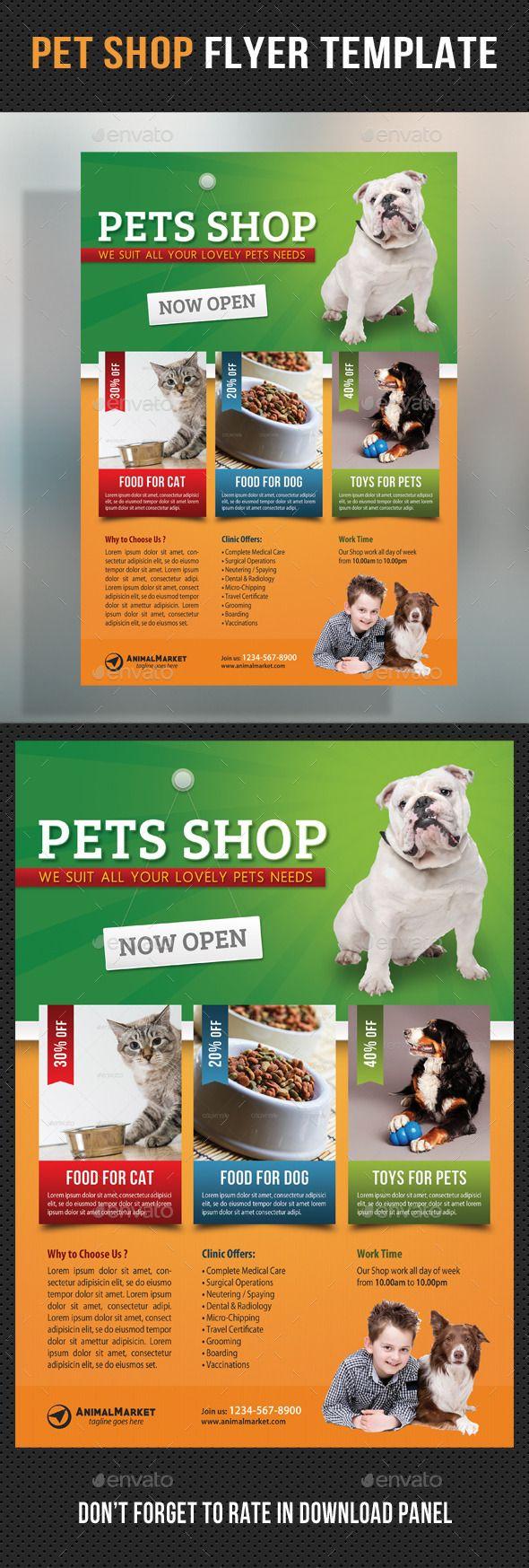 Pet Shop Flyer Template Pet Shop Pets Online Pet Supplies