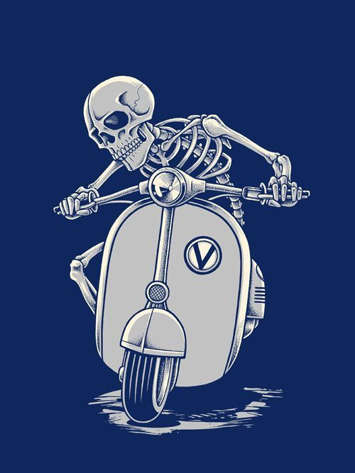 Image result for ghost on Vespa