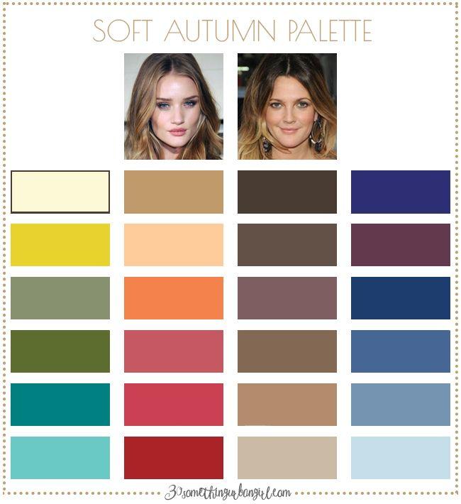 Best colors for Soft Autumn seasonal color women; Soft Autumn color palette   #SoftAutumn #colorpalette