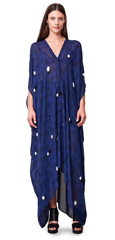 wear as caftan or maxi -gorgeous draping  b129d632e5887