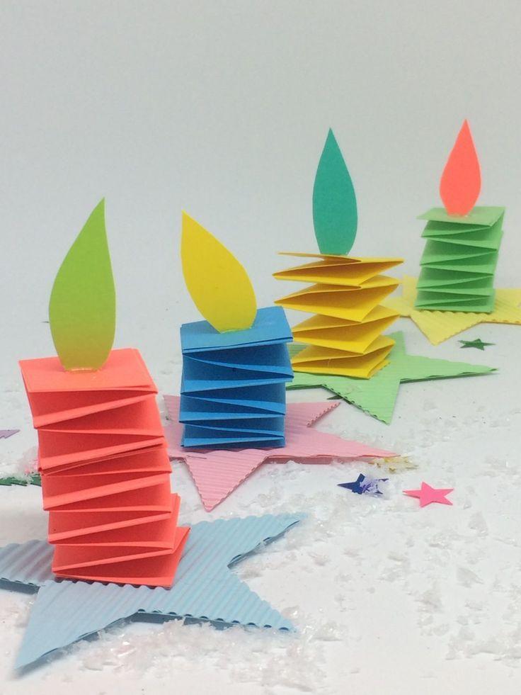 Weihnachtsbasteln mit Kindern - Adventskerzen fürs