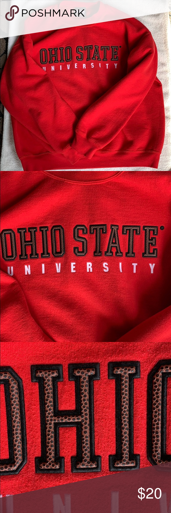 Vintage Ohio State animal print sweatshirt Large🏈 (With