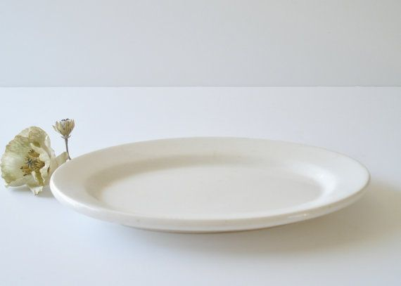 Vintage Mid Century Ironstone Restaurant by AlegriaCollection, $28.00