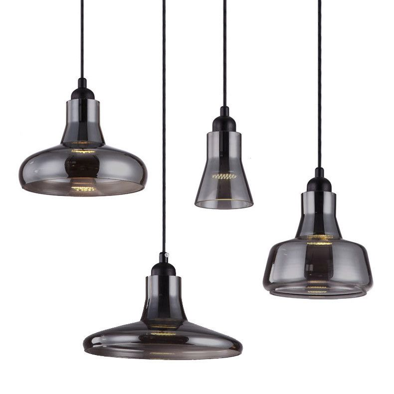 tuado and co black glass led pendant lights $99 largest is 23