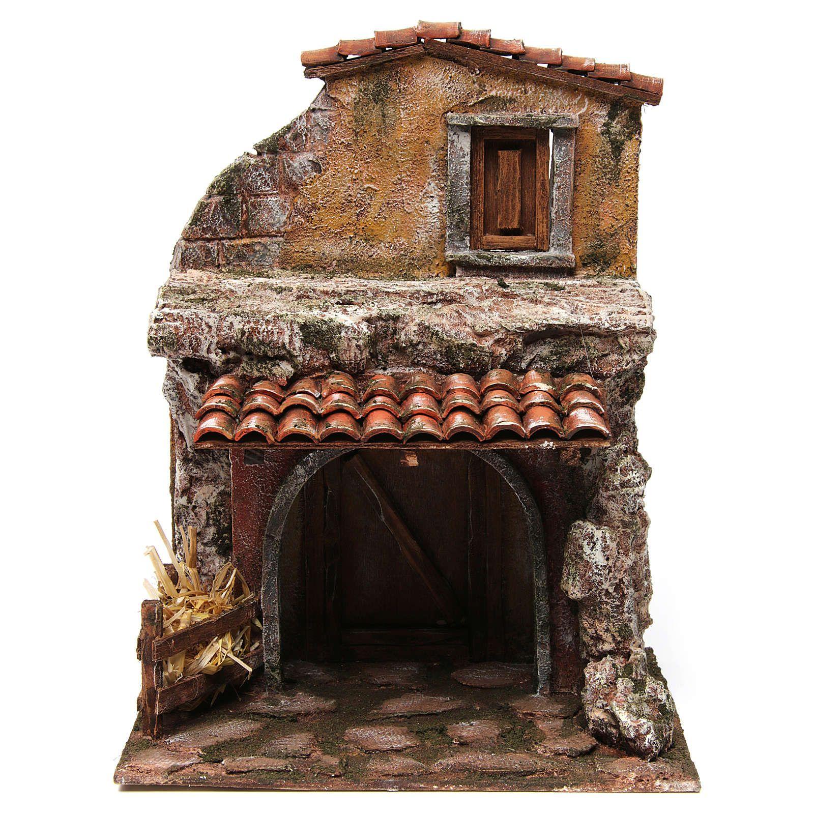 Casa con stalla per il presepe 30x24x18 cm Case di