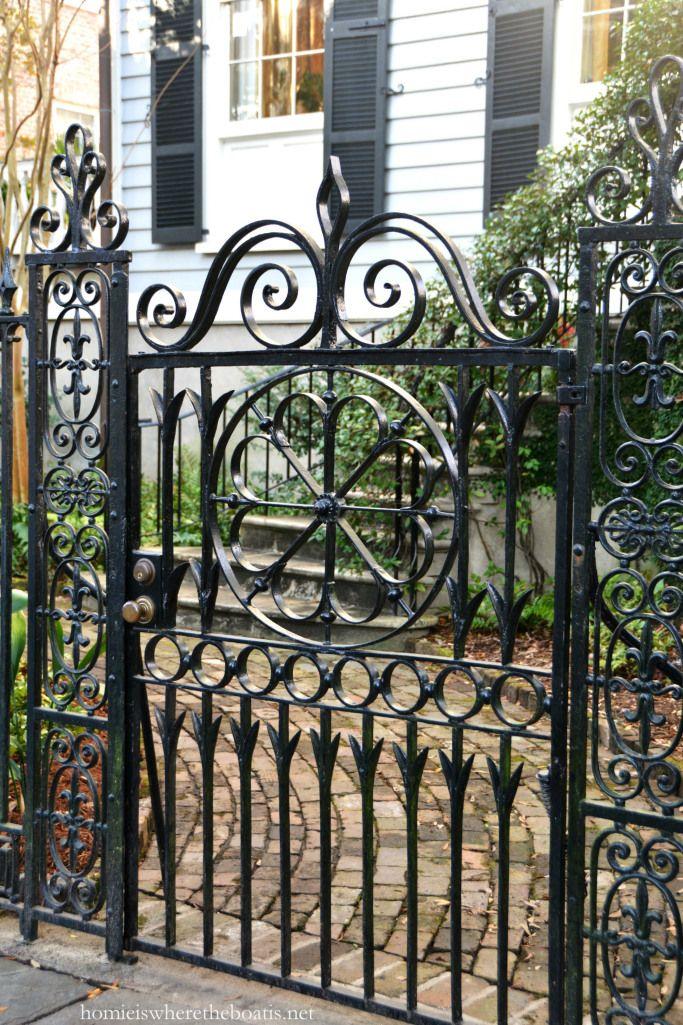 A Stroll Through Charleston Design De Portao De Ferro Decoracao