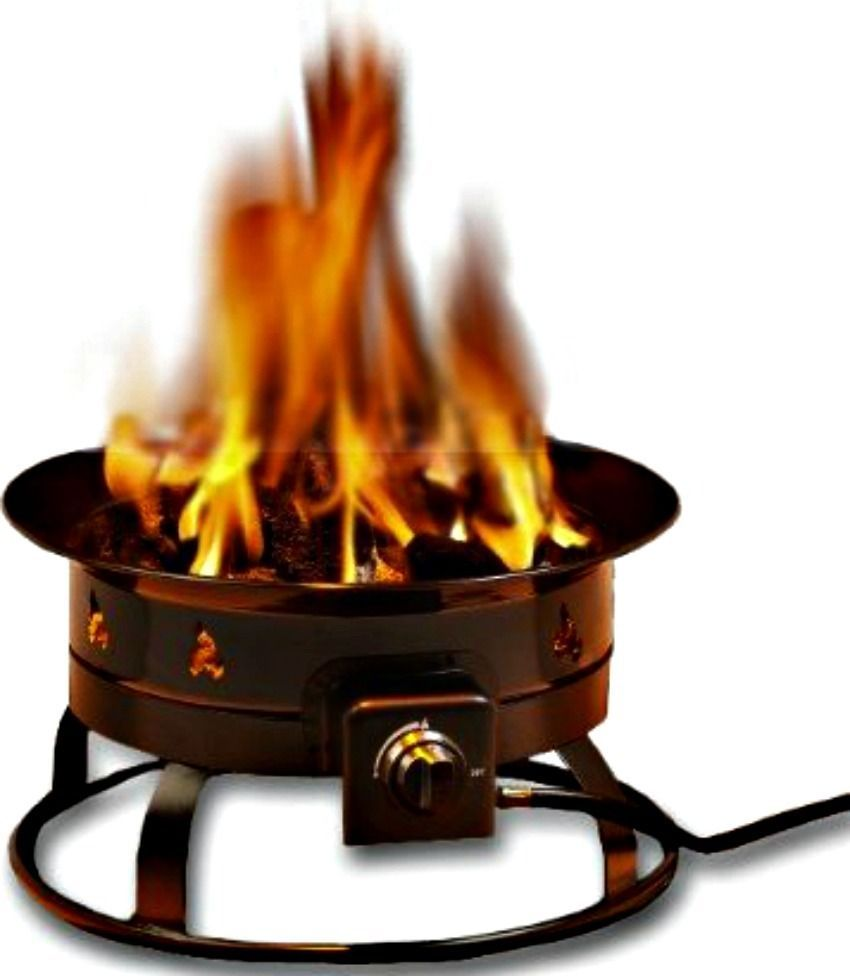 Portable Propane Fire Pit Outdoor Smokeless Outland ... on Outland Firebowl Propane Fire Pit id=16111