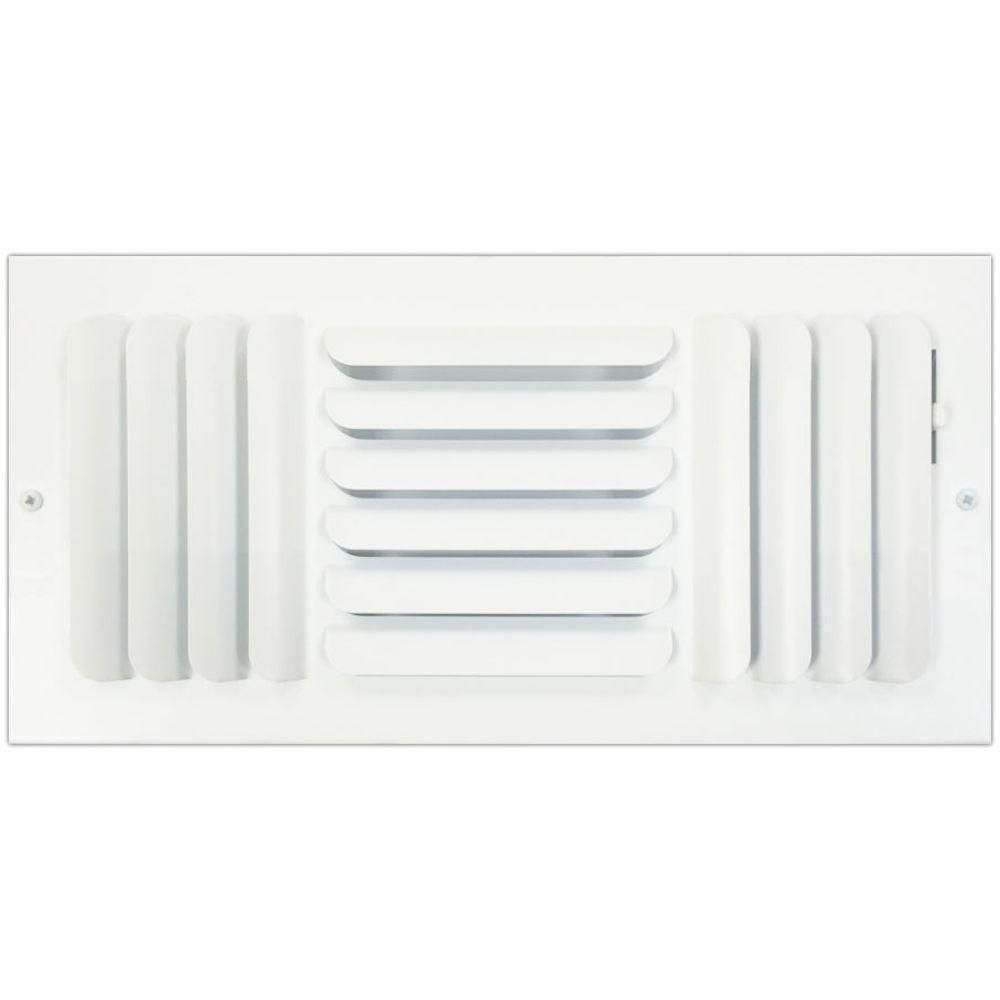 SPEEDI-GRILLE 6 in  x 14 in  Ceiling or Wall Register with