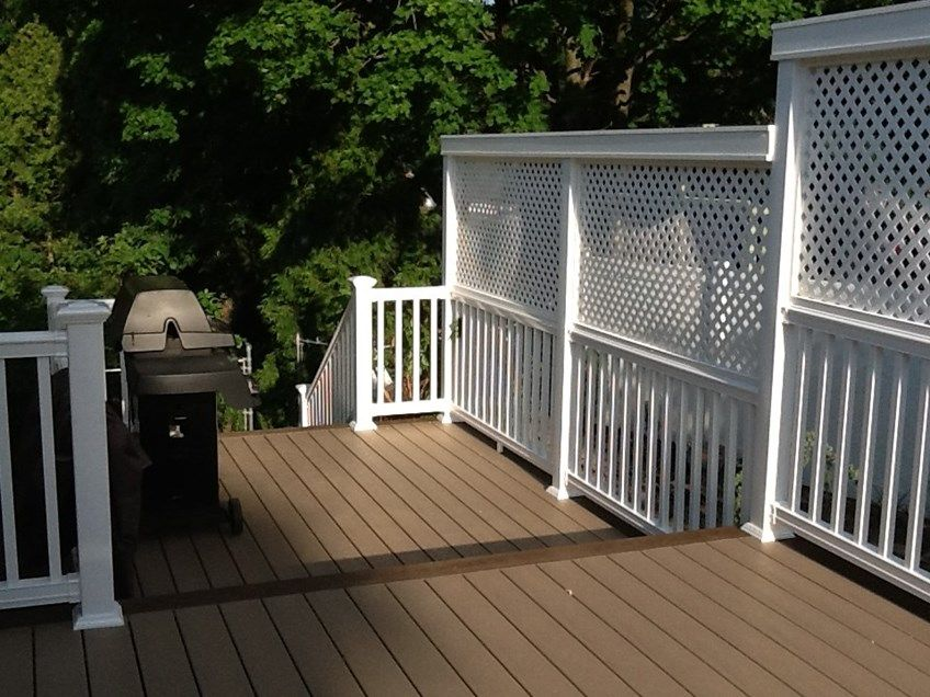 This customer wanted Privacy as the deck was raised higher ...