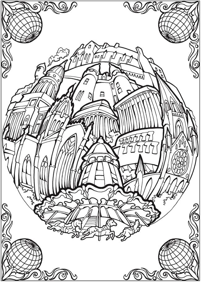 Creative Haven Circular Cities Coloring Book Welcome To Dover
