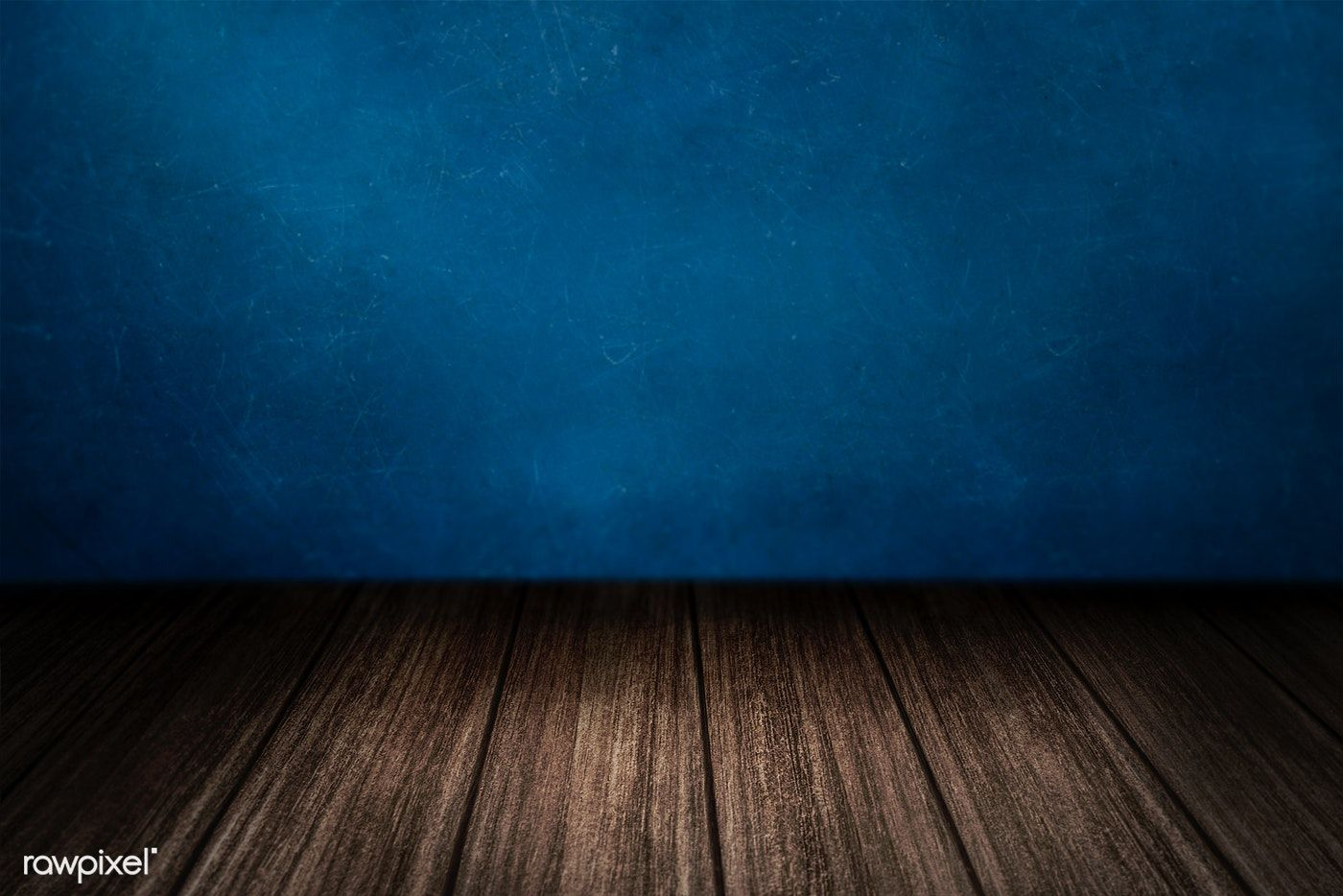 Wooden Floor With Blue Wall Product Background Free Image By
