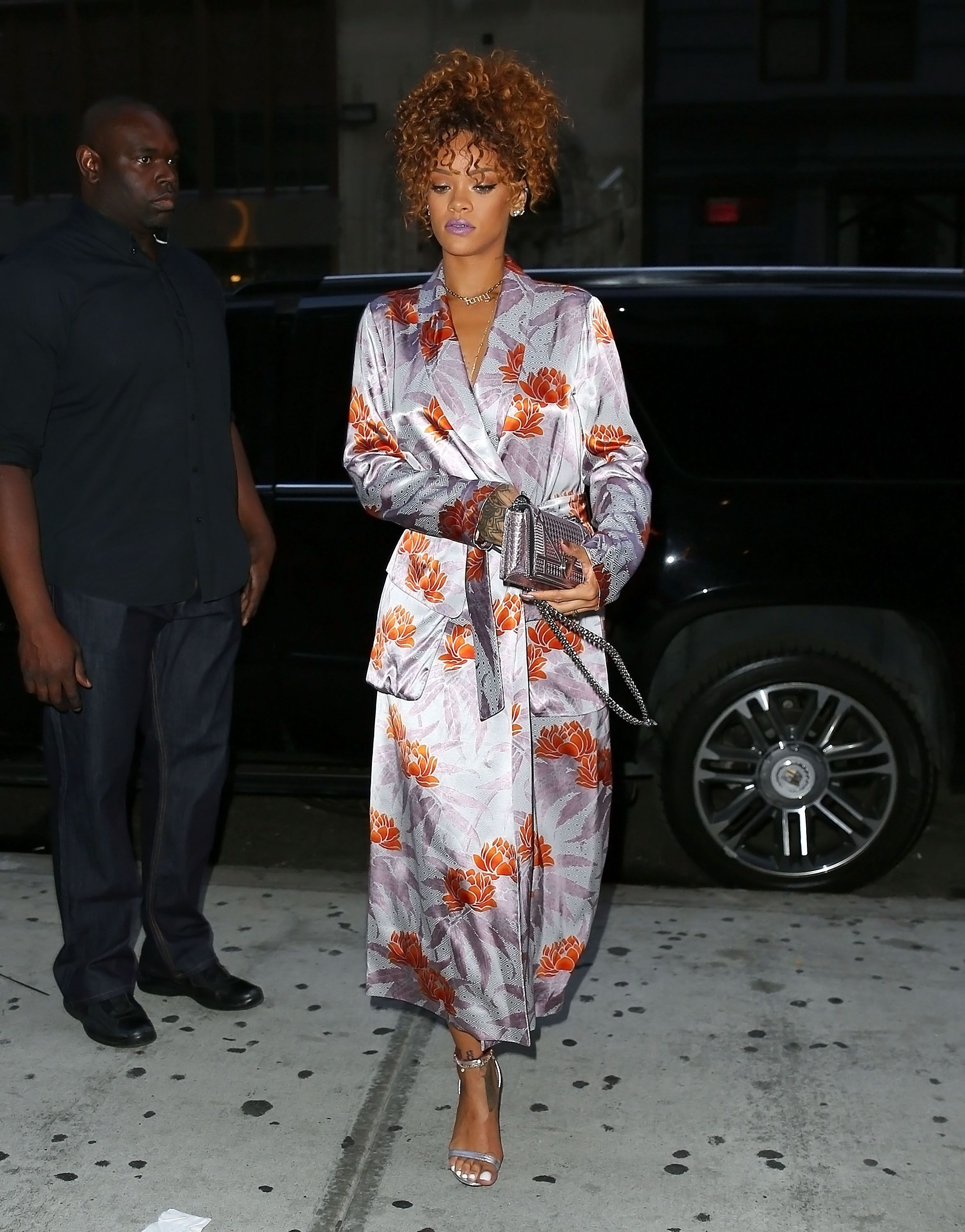 Best Dressed The Week In Outfits Purple Lipstick Kimono Style And Rihanna