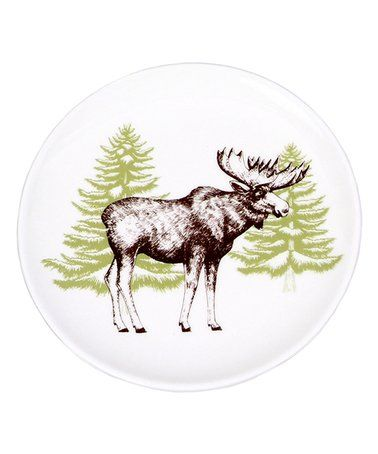 Loving this Moose Woodland Icon Plate on #zulily! #zulilyfinds  sc 1 st  Pinterest & Loving this Moose Woodland Icon Plate on #zulily! #zulilyfinds ...