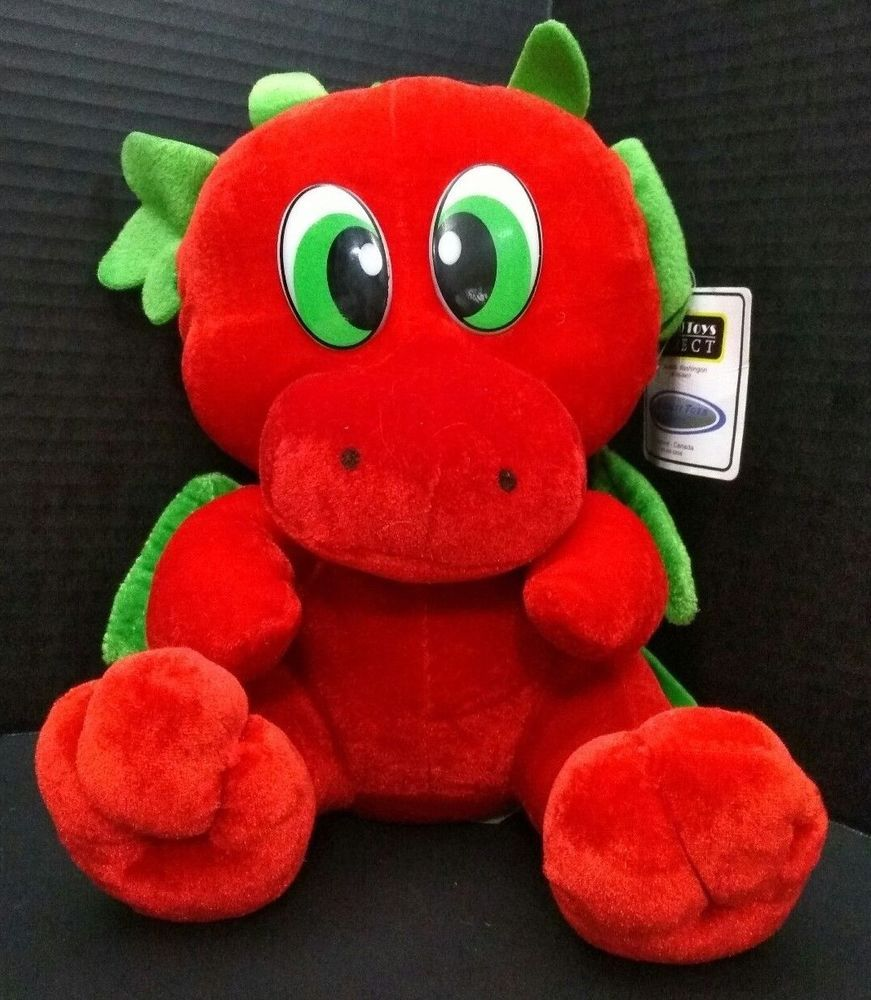 Ideal Toys Direct Red Dragon Plush Stuffed Animal Toy Lovey 13 Big