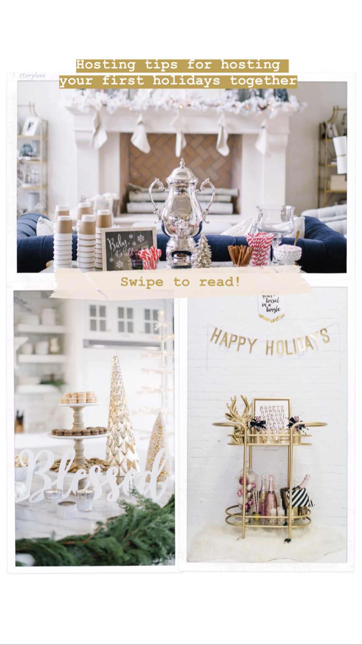 HOSTING TIPS FOR YOUR FIRST HOLIDAY TOGETHER (With images