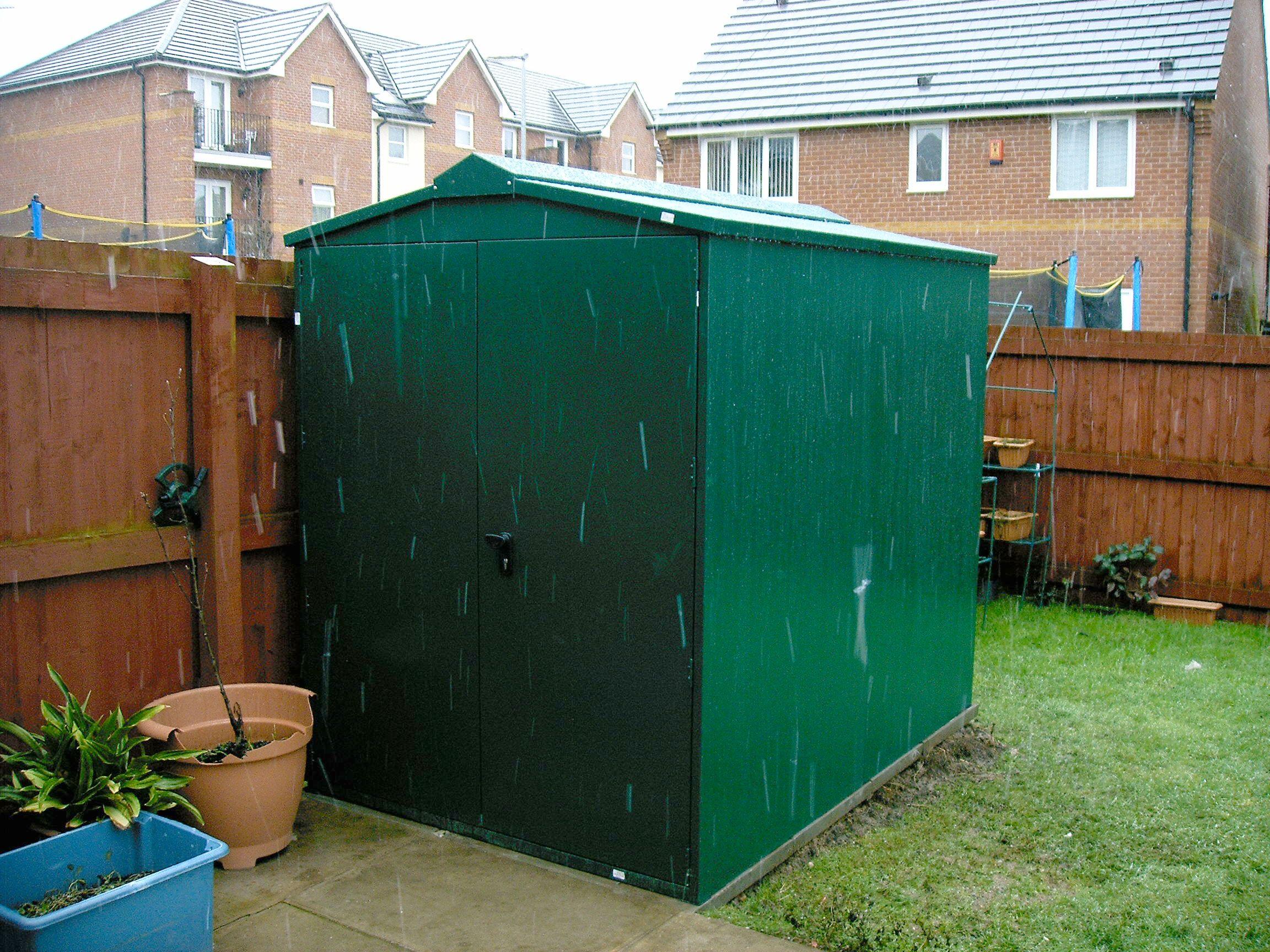 5x7 Centurion Metal Shed Police Approved Garden Storage Shed Garden Shed