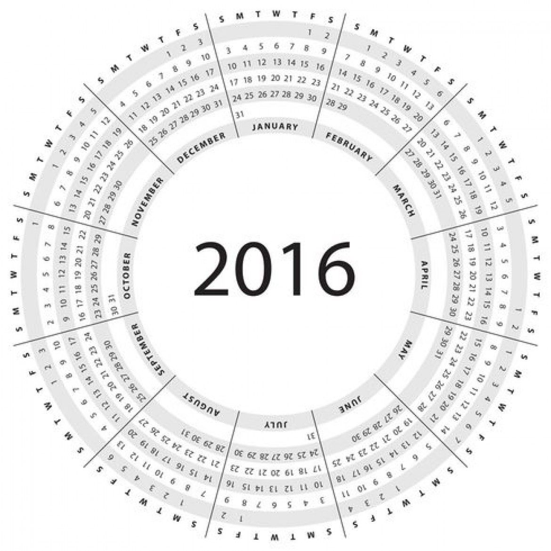 Free Vector Gray Circular Calendar Vector